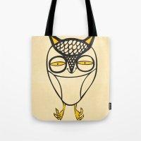 satisfied  owl Tote Bag