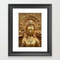 Gilded Buddha Image Sway… Framed Art Print