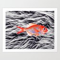 Fish on Fur IV Art Print