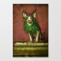 Green collar Canvas Print