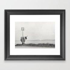 Highland Visitor Framed Art Print