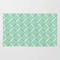 Chain Link on Mint Rug