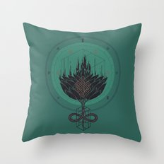Black Dahlia Throw Pillow