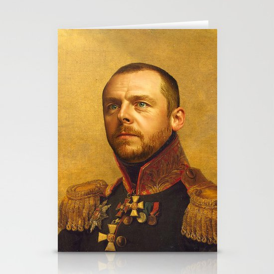 Simon Pegg - replaceface Stationery Card