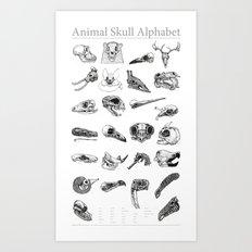 Animal Skull Alphabet Art Print
