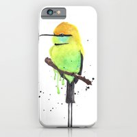 iPhone Cases featuring Green Bee eater by Amee Cherie Piek