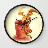 A drink for a dragon Wall Clock