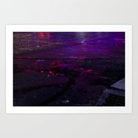 Spilled Lights Art Print