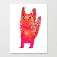 Happy Cat Stretch Canvas Print
