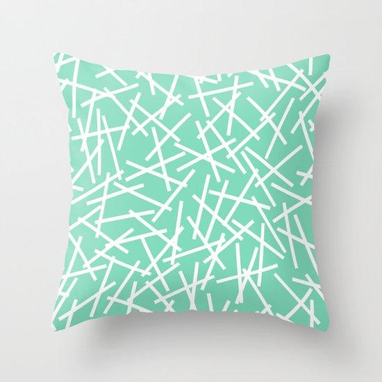 Kerplunk Mint Throw Pillow