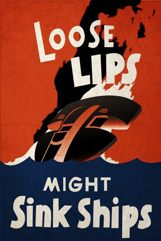 loose lips. Art Print