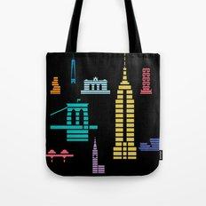 New York Skyline Empire State Poster Black Tote Bag