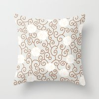 Swirls and Twirls Throw Pillow