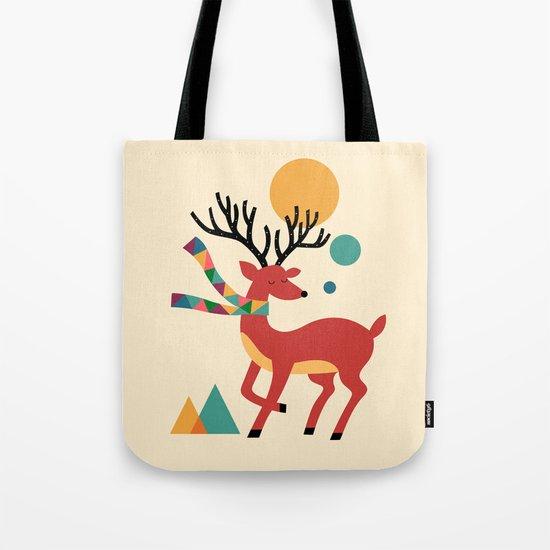 Deer Autumn Tote Bag