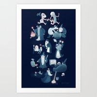 A Shared Flat for Wizards Art Print