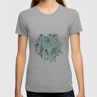 EXPLOSION-TRIANGLE Womens Fitted Tee Athletic Grey SMALL