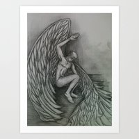 Blindfolded Angel Art Print