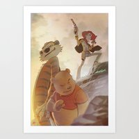 Cowboys, Tigers and Bears Art Print