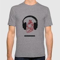 Listen to Your Heart Mens Fitted Tee Athletic Grey SMALL