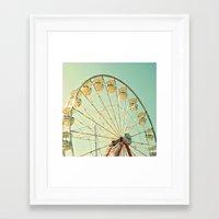 Ferris Wheel Magic Framed Art Print