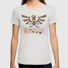 Bioshock Infinite: Song of the Songbird Womens Fitted Tee Silver SMALL