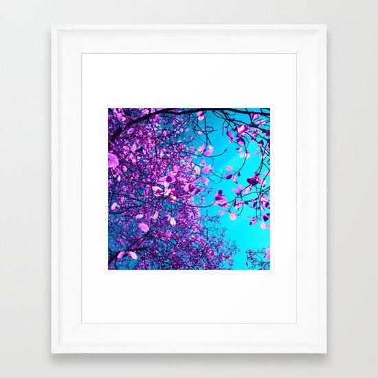 purple tree XXIII Framed Art Print