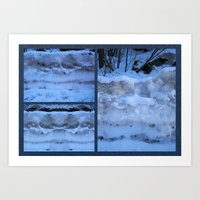 The Geology of Snow Art Print
