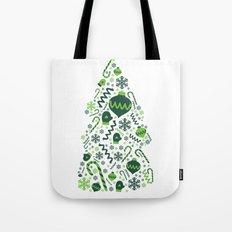 Festive Christmas Print Tote Bag