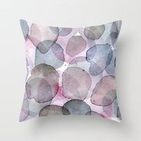 Purple Planets Throw Pillow
