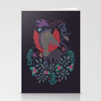 Dragon and Lizards Stationery Cards
