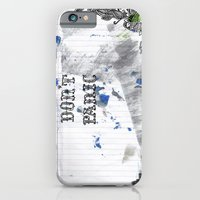 iPhone & iPod Case featuring don't panic by suzy