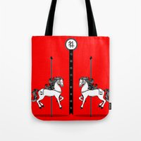 Chinese New Year of the Horse Tote Bag