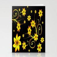 Flower Fantasy 3 Stationery Cards