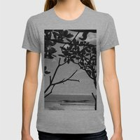 Popoyo Womens Fitted Tee Athletic Grey SMALL