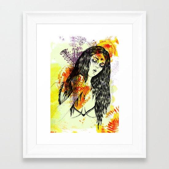 Tribal Beauty 3 Framed Art Print