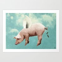 When Pigs Fly... Art Print