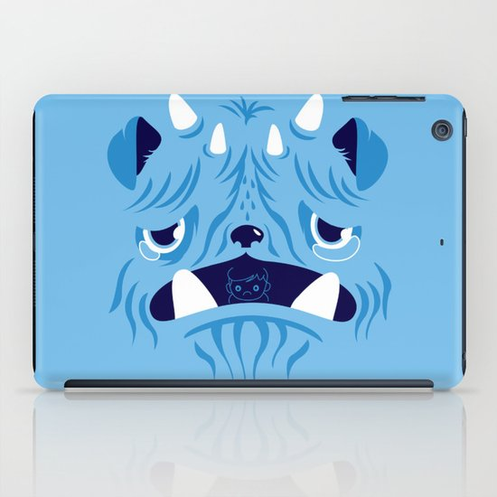 The Bluest Monster Ever :(( iPad Case