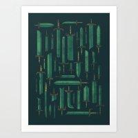 Bunch of Blades Art Print