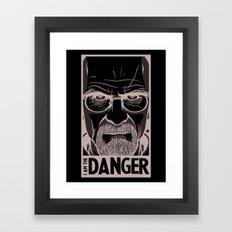 Breaking Bad - I am the Danger Framed Art Print