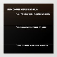 Irish Coffee Measuring M… Canvas Print