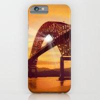 iPhone & iPod Case featuring Pan-American Bridge by Anthony M. Davis