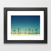 Summer Beach Blue Framed Art Print