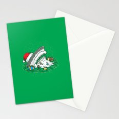 The Santa Shark Stationery Cards