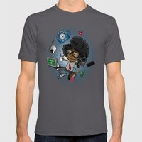 Moss's Happy Place Mens Fitted Tee Asphalt SMALL