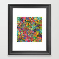 Colorful Autumn Leaves D… Framed Art Print