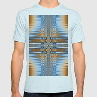 Abstract Stained Glass  Mens Fitted Tee Light Blue SMALL