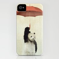 iPhone Cases featuring Pandachute by vin zzep