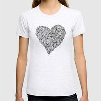 Hairy Heart  Womens Fitted Tee Ash Grey SMALL