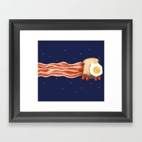 Nyan Bacon Framed Art Print