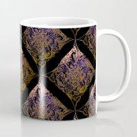Detailed diamond, bordeaux glow Mug